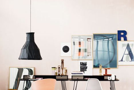 Pretty and light office space. interior design
