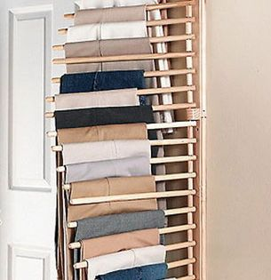New Wall Mount Trouser Pant Closet Organization Rack