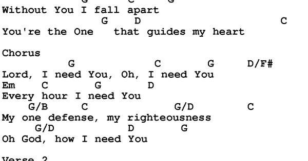 lord i need you lyrics pdf