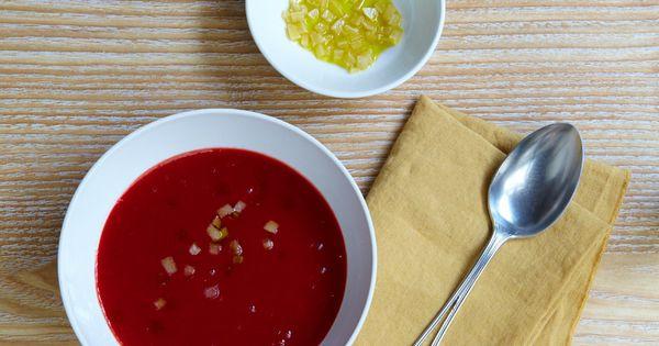Recette soupe de betterave au citron confit pelez les - Cuisiner les betteraves ...