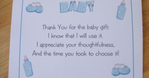 pinterest thank you gifts baby showers and thank you card wording