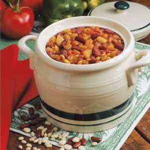 Three Bean Casserole Recipe Bean Casserole Baked Beans Recipes