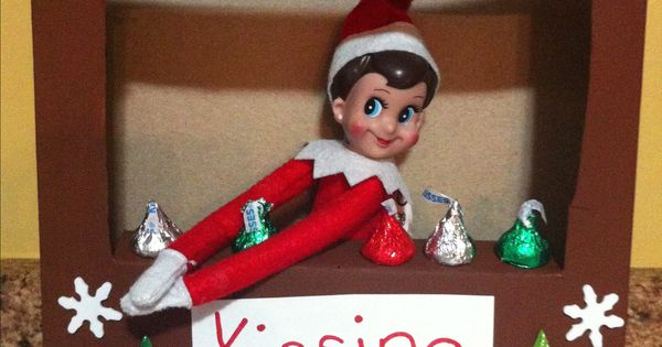 Elf on the shelf kissing booth the kids blow the elf a for Elf on the shelf chocolate kiss