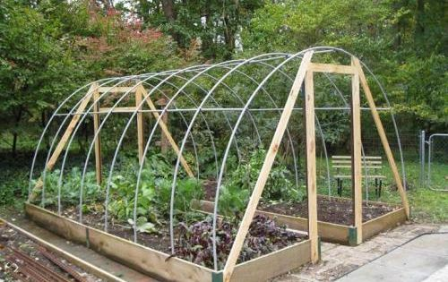 Diy Hoop House Frame Great Way To Extend To Growing