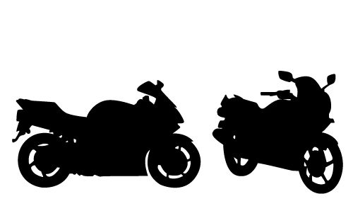 Stunning View Of A Motorcycle Silhouette Vector Free