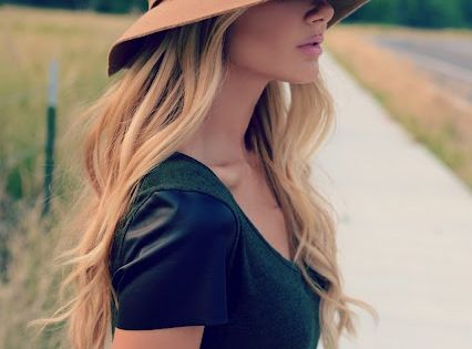 Floppy hat for fall.