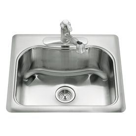 Kohler Staccato 22 In X 25 In Stainless Steel 1 Stainless Steel