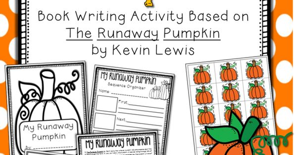Book Cover Graphic Organizer ~ The runaway pumpkin writing book activity with