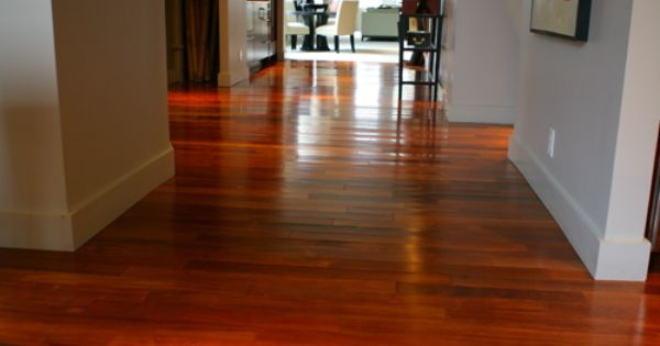 Brazilian Cherry Floors In Kitchen Town Home