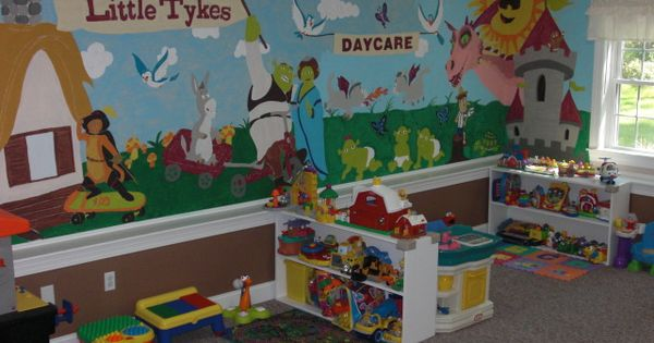 Paint a mural on the wall daycare pinterest for Chroma mural paint markers