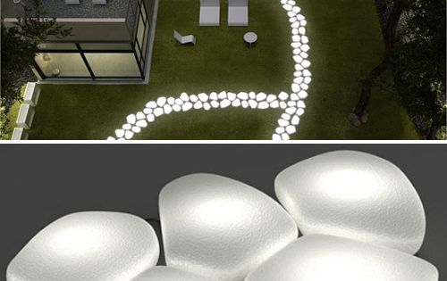 Lighted Stepping Stones