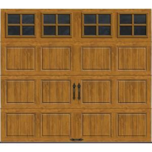 Clopay Gallery Collection 8 Ft X 7 Ft 6 5 R Value Insulated Ultra Grain Medium Garage Door With Sq22 Window Gr1sp Mo Sq22 The Home Depot Garage Door Design Garage Doors Garage Door Styles