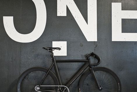 Level One Matte Black Fixed Gear bike