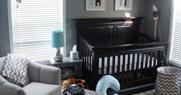 I love grey for a nursery. You can switch out the accessories