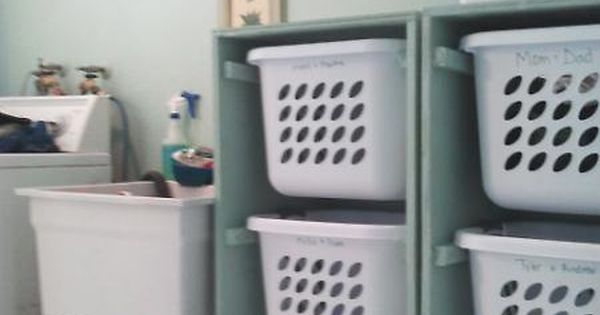 Great idea for the laundry room organization! Could use this as individuals's