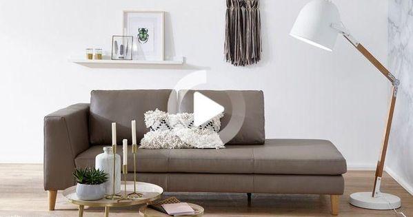 Ewald Schillig Recamiere Domino Mammut Cuir Apartment Living Room Authentic Design Home Decor