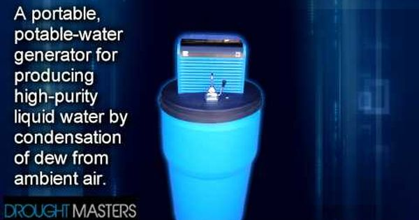 Drought Masters Instructional Dvd Trailer Water Generator Atmospheric Water Generator Water From Air