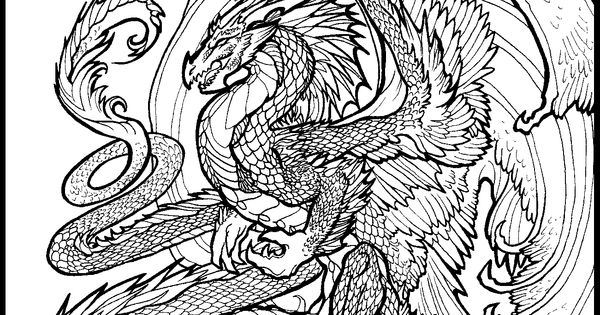 dragon dance coloring pages - photo#15
