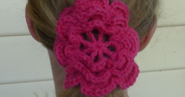 Handmade Crochet Flower Hair Ties With Elastic by TeddyandTottie, $4 ...