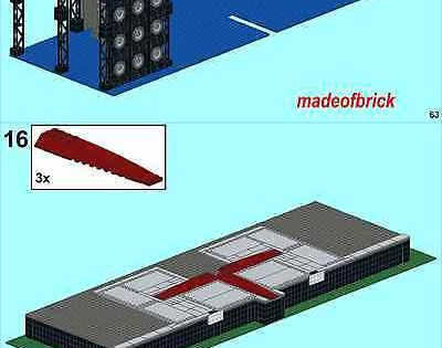 ROCK CONCERT STAGE INSTRUCTIONS ONLY.NO PARTS. CUSTOM LEGO METALLICA