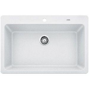 406 B442098 Grandis White Color Undermount Single Bowl Kitchen