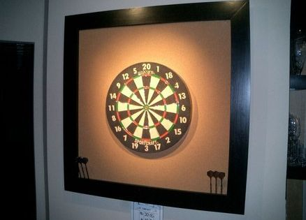 Dart Board Surround DIY project out of