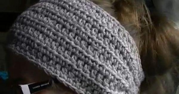 ... pattern and Video tutorial Crochet Headbands & Ear Warmers etc