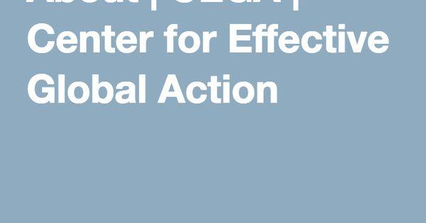 Image result for Center for Effective Global Action