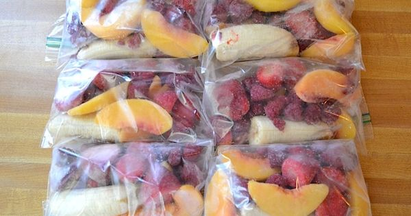 Frozen Fruit Smoothies - great idea for a quick breakfast