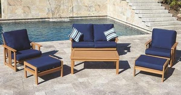 Backyard Creations Timberland 7 Piece Deep Seating Patio Set At Menards Backyard Creations Re Patio Furniture Collection Outdoor Furniture Sets Patio Chairs