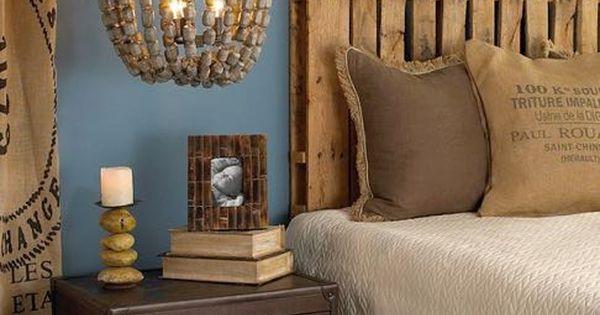 Cabecero de cama hecho con palets palets diy - Cabeceros hechos con palets ...