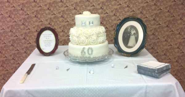 Diamond Wedding Anniversary Gifts For Grandparents: 60th Wedding Anniversary Cake I Made For My Grandparents