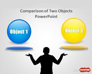 Comparison Of Two Objects Powerpoint Template Keuangan