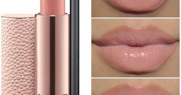 Perfect nudes pink lips. MAC lipstick - Peachstone.