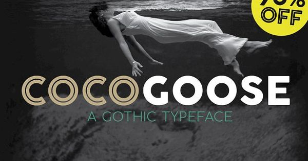 Cocogoose is a geometric sans serif typeface designed with straight, monolinear lines and circular