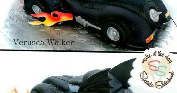 Batman Car Birthday Cake  Batman  Pinterest  Cars, Birthday cakes ...