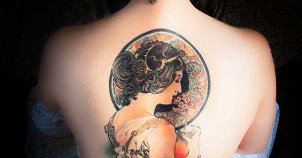 alphonse mucha primrose tattoo absolutely amazing awesome ink pinterest alphonse mucha. Black Bedroom Furniture Sets. Home Design Ideas