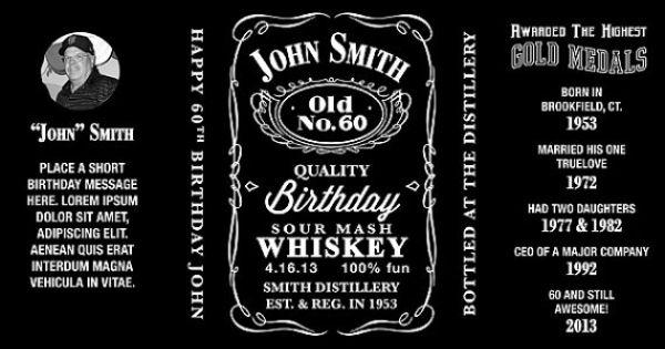 1 75 Jack Daniels Inspired Bottle Label By Lizbasseystudios 25 00 Jack Daniels Label Jack Daniels Label Templates