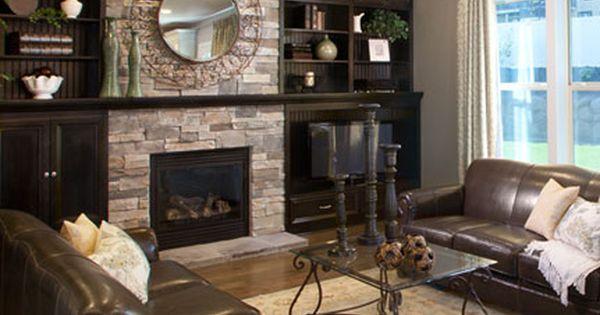 Gorgeous Ledgestone Fireplace Cozy Living Rooms Living Room