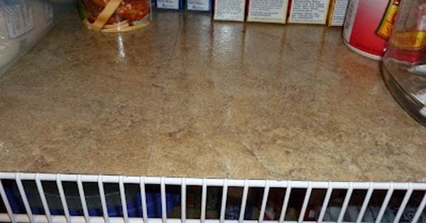 Self-Adhesive Vinyl Floor Tiles... use on wire racks in pantry to create