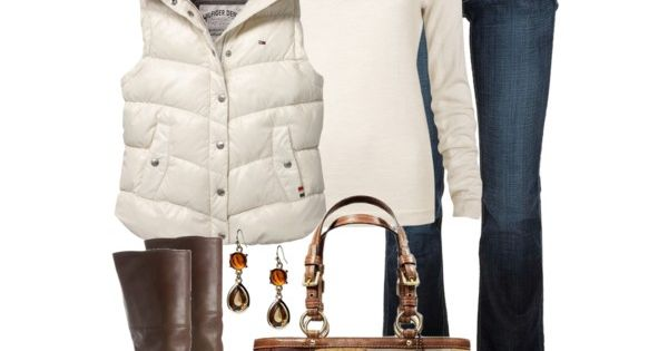 ♔ WINTER OUTFIT: TOMMY HILFIGER SLEEVELESS SHINY BODY WARMER WITH DETACHABLE HOOD