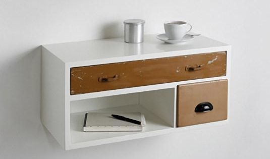 Diy Wall Mounted Drawer For Bedside Table One The Wall Small Home For The Winnnnn House