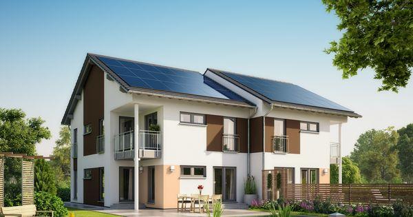 hausentwurf doppelhaus asymmetrisches doppelhaus von okal haus energieeffizentes fertighaus. Black Bedroom Furniture Sets. Home Design Ideas