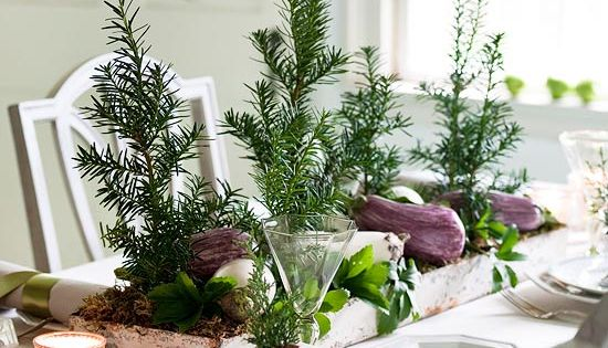 "Table Setting Idea (""Trees"")"