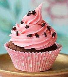Chocolate Cupcake With Pink Icing Resep Kue Mangkok Kue Mangkok Cake Mini