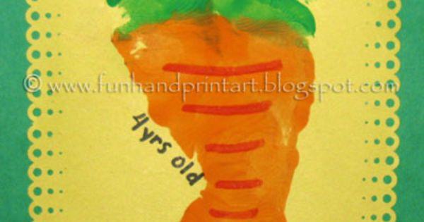 Cute Easter Craft for kids: Footprint Carrot!