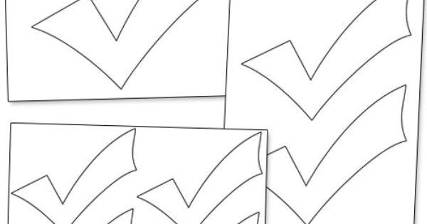 Printable Check Mark From Printabletreats Com Shapes And