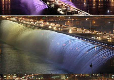 Banpo Bridge (South Korea): The Fountain Bridge On September 9, 2008, the