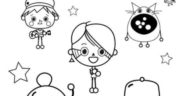 Print and color your own Toca Band | Toca Band | Pinterest