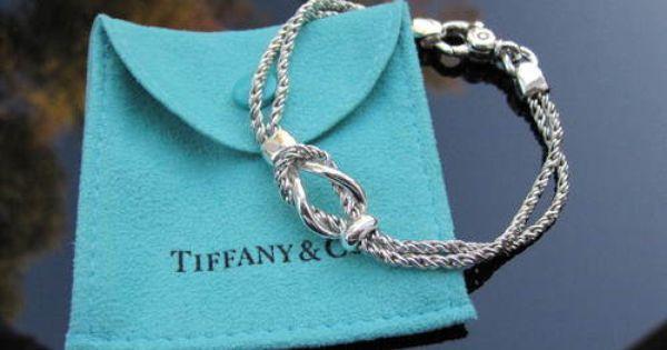 Tiffany Amp Co Silver Double Rope Love Knot Bracelet Bangle